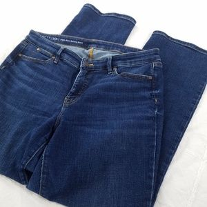 Talbots size 10P High Rise Barely Boot Jeans Blue
